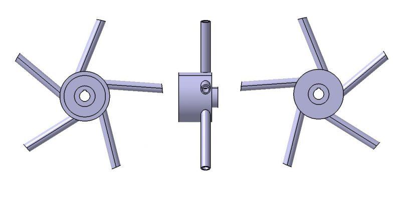 ANSYS Academic Program Płomień 1 wirnik rurowy pompy wielostopniowej