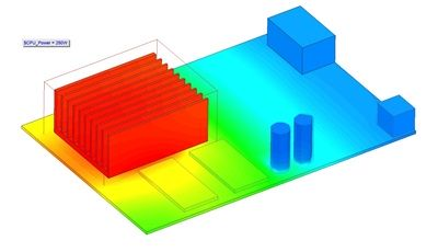 modelowanie temperatury PCB